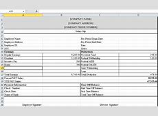 Payslip Template Excel calendar monthly printable