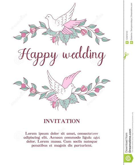 Wedding Invitation Beautiful Wedding Card With Wreaths Of