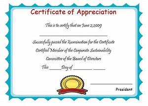 downloadable certificate of appreciation dtk templates With template for a certificate of appreciation