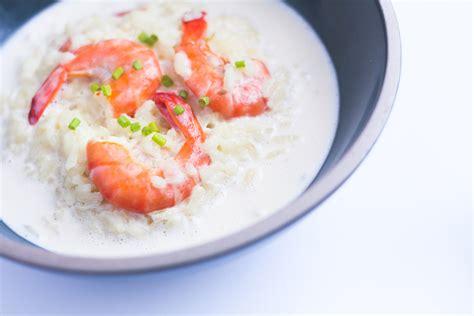 emulsion cuisine risotto crevettes émulsion lait de coco au citron