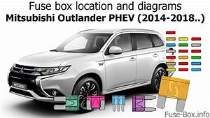 Fuse Box Location And Diagrams  Mitsubishi Outlander Phev  2014-2018