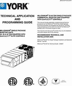 York Z Millennium R410a Technical Guide 351579 Yts C 0111