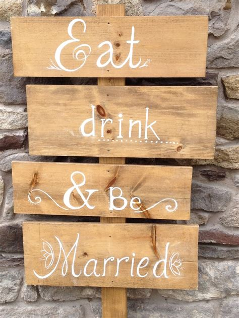 Beautiful Rustic Sign Provided By Emilys Cafe For A