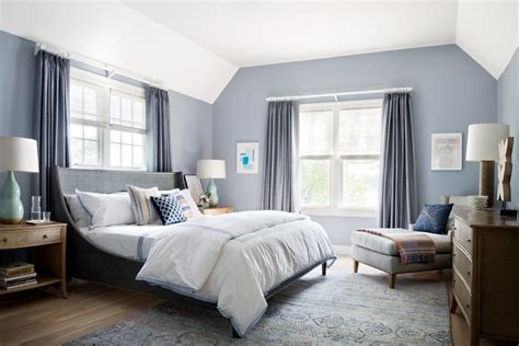 york purple gray paint color bedroom transitional
