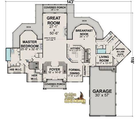 log cabin layout floorplans log homes  log home floor