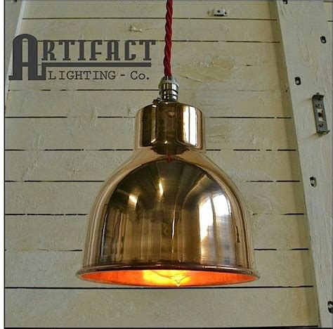 copper shade ceiling pendant light vintage industrial type