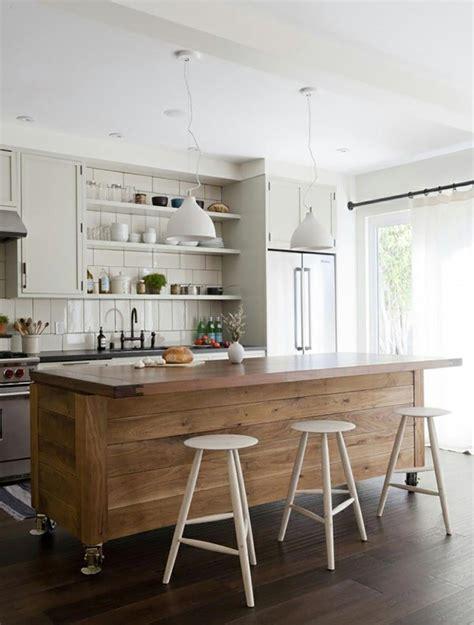 ilot bois cuisine ilot central en bois pour cuisine images