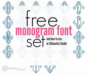 free monogram set and how to use monogram font in With free monogram