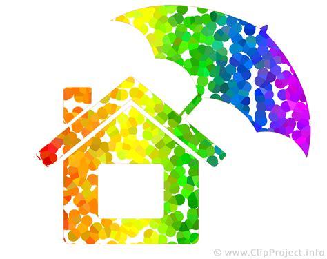 Regenbogen Haus Bild Clipart