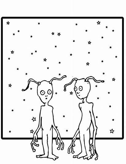 Coloring Weird Pages Alien Aliens Printactivities Looking