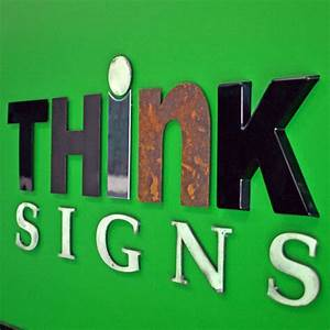 dimensional 3 d letters are great for outdoor signs and With dimensional signs and lettering