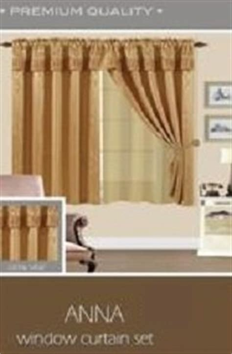 Annas Linens Curtain Tie Backs by Window Curtain Set 2 Panels With Attached