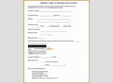 10+ blank credit card authorization form pdf Lease Template
