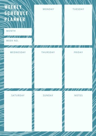pink modern weekly planner templates  canva