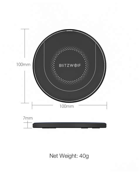 NEW BlitzWolf® BW-FWC7 Qi Fast Wireless Charger 15W 10W 7
