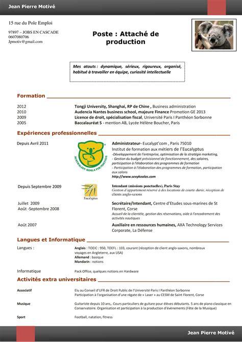 Resume Format Modèle Cv Homme
