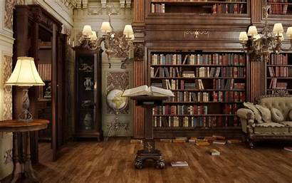 Library Victorian Study Deviantart Steampunk Interior Mansion