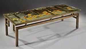 Table Basse Dorée : philip kelvin laverne table basse en bronze patine dor e pr sentant ~ Teatrodelosmanantiales.com Idées de Décoration