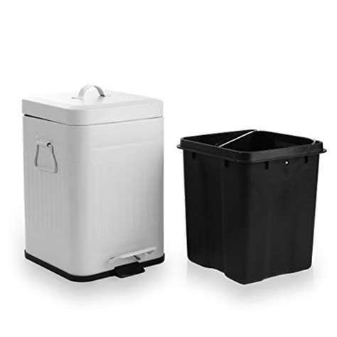 small bathroom trash can with lid modern toilet trash can square step w lid cabinet