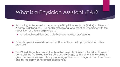 Physician Assistant Career Power Point