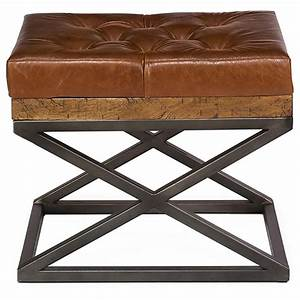 Thomas, Modern, Classic, Brown, Leather, Cushion, Bench