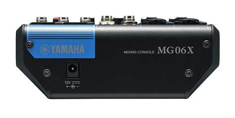 yamaha console yamaha mg06x 6 channel mixing console worldmusic usa