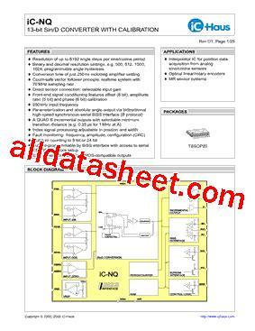 Icnq Datasheet(pdf)  Ichaus Gmbh
