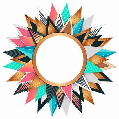 Circle Colorful Frame Border Designs Transparent Clip