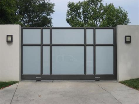 contemporary house gates contemporary driveway carport gates aluminum glass livemodern your best modern home