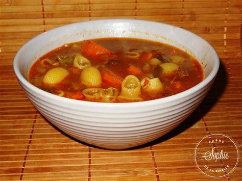 tendresse en cuisine minestrone italie la tendresse en cuisine