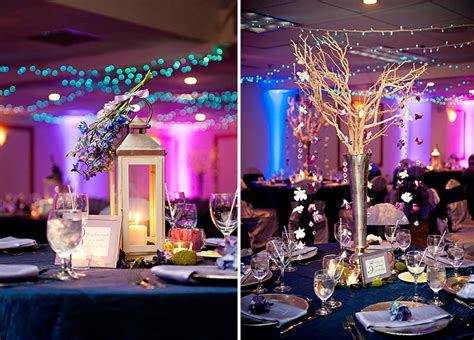 Classic And Eclectic Purple And Blue Wedding