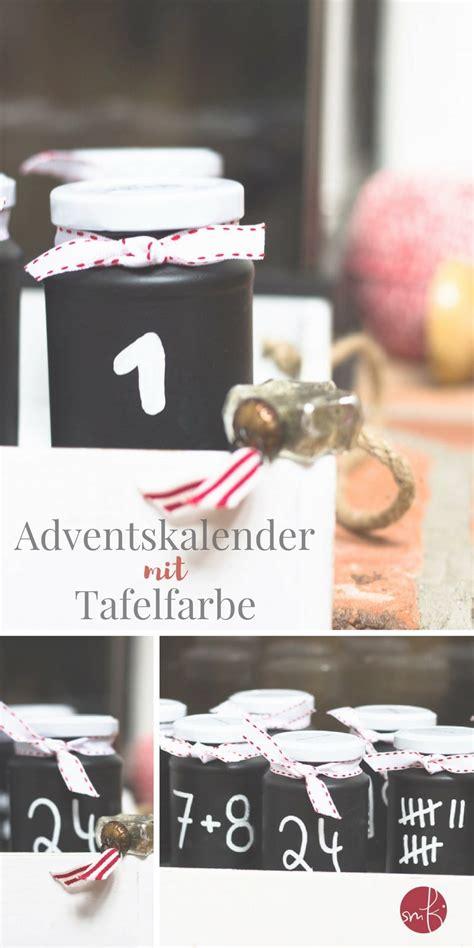 Tafelfarbe Auf Glas by Upcycling In Schwarz Weiss Adventskalender Mit Gl 228 Sern