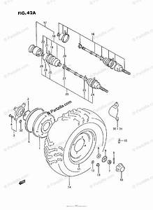 Suzuki Atv 1991 Oem Parts Diagram For Front Wheel  Model P