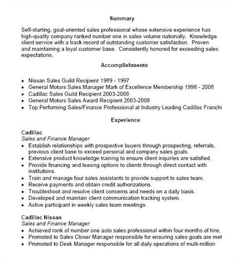 sales manager sle resume panoramic resume pdf free