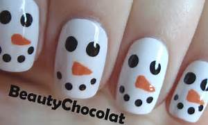 Quick and easy christmas snowman nail art