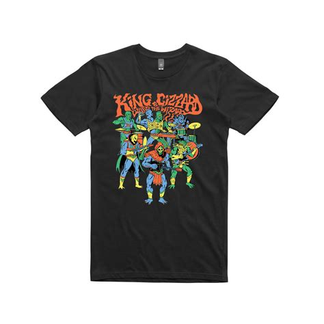 Tshirt Master Chef85 king gizzard the lizard wizard masters black t shirt
