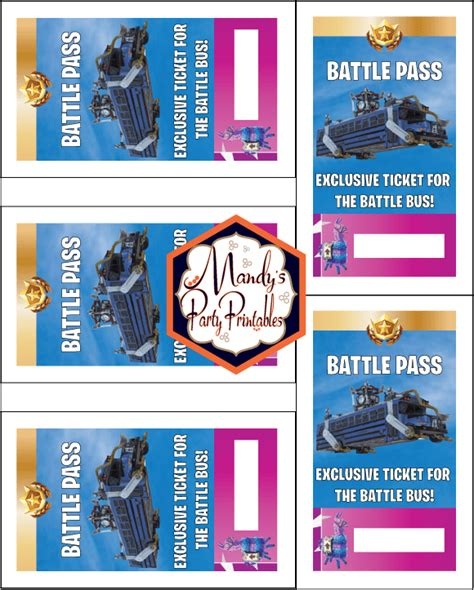 printable fortnite battle pass lanyard