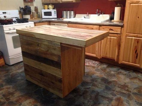 wooden kitchen island table recycled pallet kitchen island table ideas pallet wood 1641