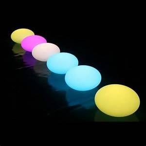 Boule Led Exterieur : boule led lumineuse flottante etanche piscine terrasse 35cm telecommande achat vente ~ Teatrodelosmanantiales.com Idées de Décoration