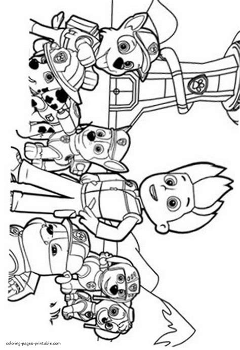 Coloring book Paw Patrol COLORING PAGES PRINTABLE COM