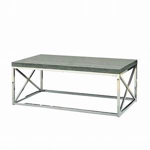 modern coffee table with chrome metal frame and dark tape With metal frame coffee table with wood top