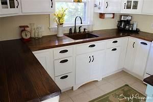 DIY Wide plank butcher block counter tops www SimplyMaggie