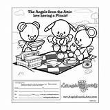 Attic Picnic Draw Picnics Coloring Pages Angels Send Having Rock sketch template