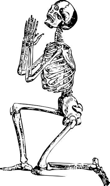 Praying Skeleton Clip Art at Clker.com - vector clip art
