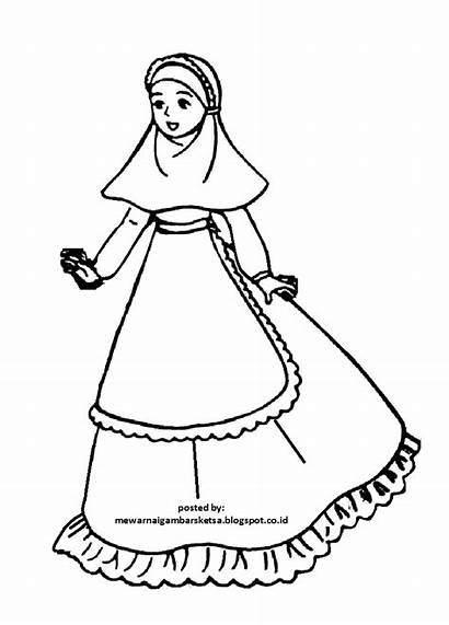 Mewarnai Gambar Muslimah Anak Barbie Kartun Princess