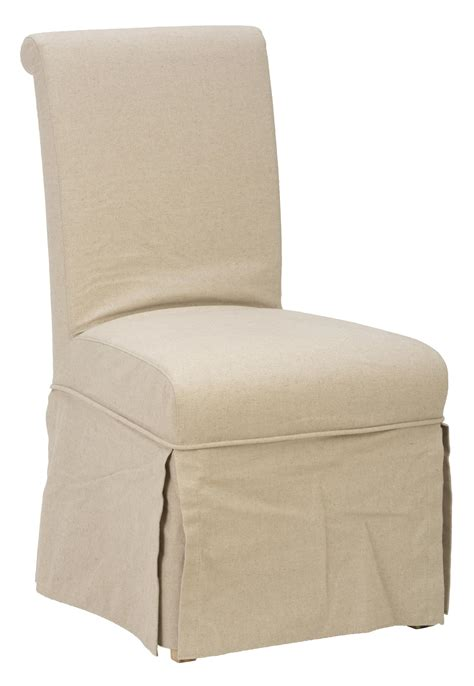 slater mill pine slipcover skirted parson chair with linen