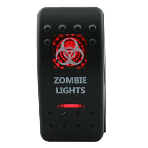 Led Rocker Switch Spst Off Illuminated Red Light