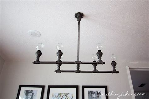 diy steel pipe light fixture crafty ideas for the home