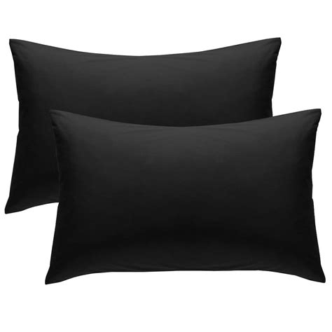 chartwell plain housewife black pillow case pack