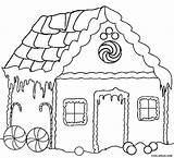 Coloring Gingerbread Houses Printable sketch template